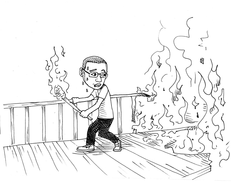 Don't burn your bridges behind you