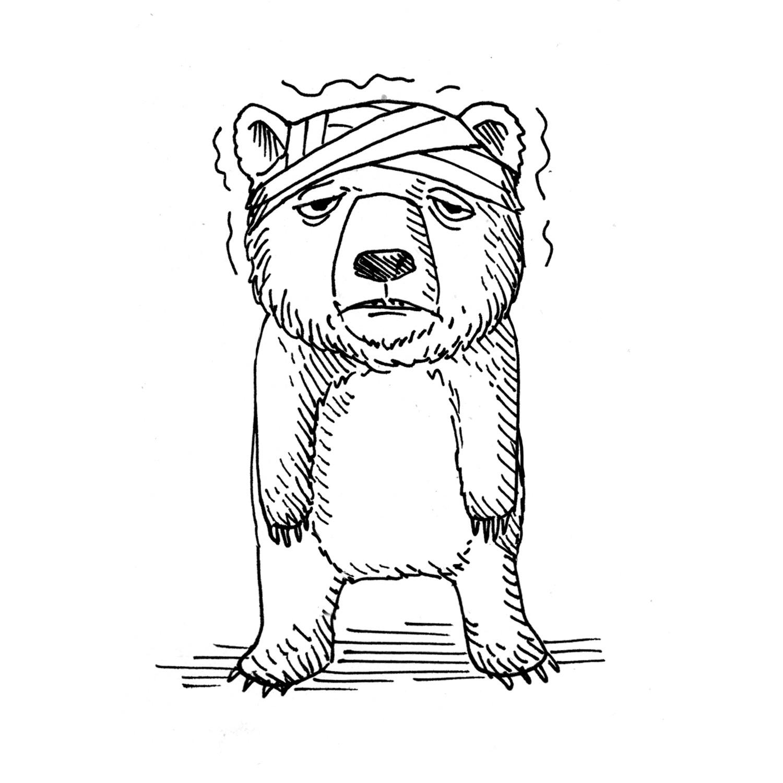To be like a bear with a sore head